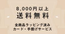 8,000円以上のお買い上げで送料無料!
